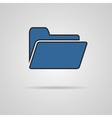 Folder icon with shadow eps10 vector