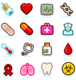 Health care icons set vector