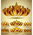 Five stars classic style icons set vector