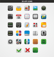 28 app icons vector