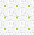Geometric white pattern with green dots vector