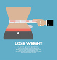 Lose weight concept vector