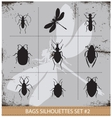 Insect silhouettes sign set black color vector