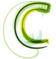 Green letter c vector