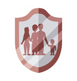 Family insurance design vector