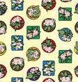 Apple flowers clip art pattern vector