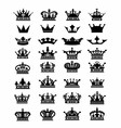 Collection of 32 crown icon logo symbol dow vector