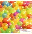 Background with multicolored transparent balloons vector