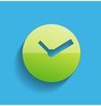 Time clock icon modern flat design vector
