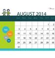 Simple 2014 calendar august vector