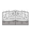 Iron gate vector
