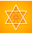 Star of david with decorative pattern vector