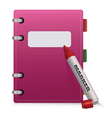 Pink diary vector