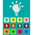 Light lamp sign icon idea symbol light is on vector