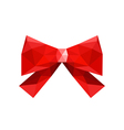 Red origami bow isolated on white background vector