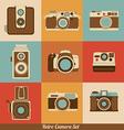 Retro cameras vector