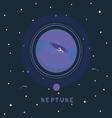 Neptune space view vector