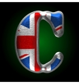 Great britain metal figure c vector
