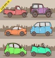 Cartoon car set 2 vector