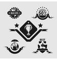 Five different emblems vector