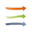 Three different arrows vector