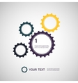 Color design concept gears vector