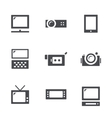 Visualization tools icon set vector
