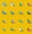 Colorful isometric flat design icon set vector