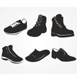 Set of icons of mens shoes vector