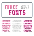 Hand drawn font set alphabet with digits vector