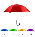Color set umbrella vector