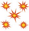 Bursting star set vector