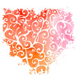 Abstract hand-drawn watercolor heart vector