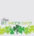 Line of shamrocks st patricks day card in format vector
