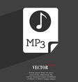 Audio mp3 file icon symbol flat modern web design vector
