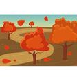 Autumn landscape background vector