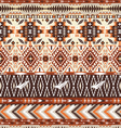 Seamless colorful aztec geometric tribal pattern vector