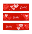 Set of love background with abstract hearts vector