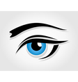 Dark blue female eye vector