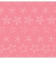 Starfish pink pastel stripe line art seamless vector