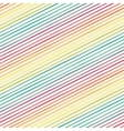 Seamless pattern with rainbow diagonal stripes vector