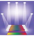 Colored carpet vector