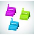 Set of 3d paper tag vector
