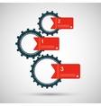 Color design concept gears vector
