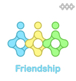 Friendship conceptual icon vector