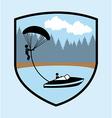 Parachute fly vector