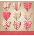 Scrap template of vintage design with hearts vector