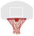 Grey basketball basket vector