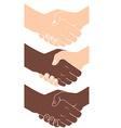 Handshake flat style vector