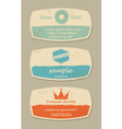 Retro design card set vector